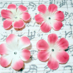 2 in. Artificial Silk Flower - 4 pc Craft Embellishment