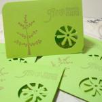 6pc Environmental Awareness Cards Flower Cut - Going Green