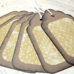 6pc Large Kraft Paper Brown Rustic Distressed Gift Tags