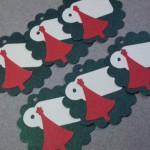 6pc Tree and Tag Scalloped Edge Metallic Christmas Gift Tags