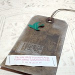 Chinese Good Fortune Distressed Altered Luggage Style Tag