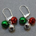 Christmas Bell Cluster Earrings