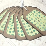 Large Kraft Paper Green Rustic Distressed Gift Tags