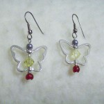 butterfly charm dainty earrings