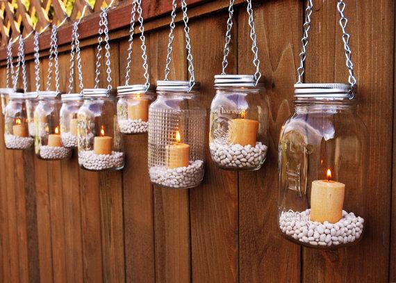 Mason Jar Hanging Outdoor Lighting