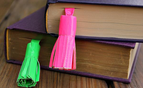 Duct Tape Tassel Bookmark